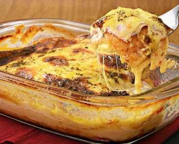 Receita de Lasanha fácil de pão de forma