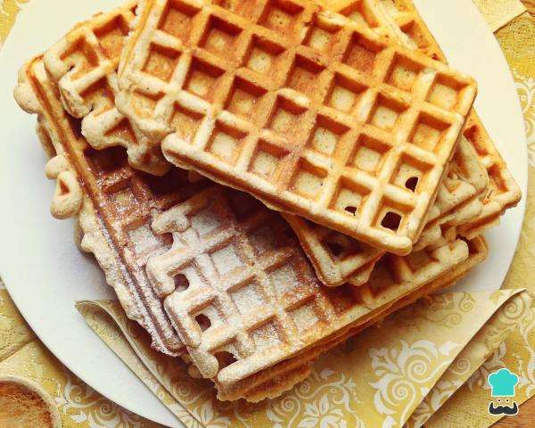 Receita de Waffle belga