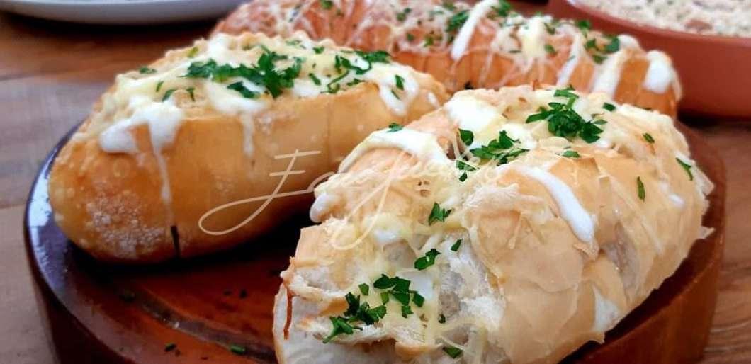 Receita de Edu Guedes de Pão de alho Delicioso