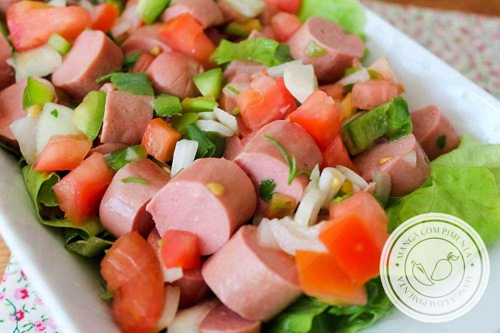 Receita de Salada de Salsicha Gostosa