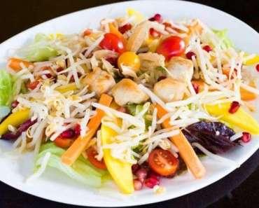 Receita de salada fria de frango com broto de soja francesa