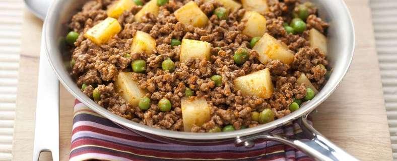 Receita de Carne Moída com Batatas