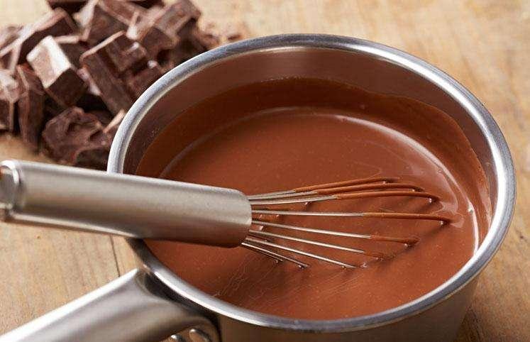 Receita de Cobertura de chocolate feita com Creme de Leite e Achocolatado e Margarina