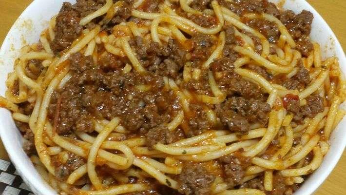 Receita de Macarrão com carne moída