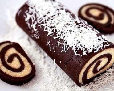 Receita de Rocambole de Chocolate com Beijinho