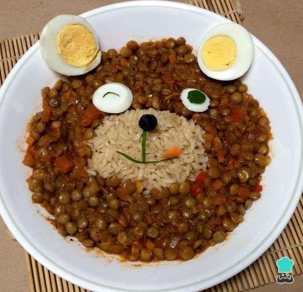 Receita de Salada de lentilha para crianças no Ano Novo