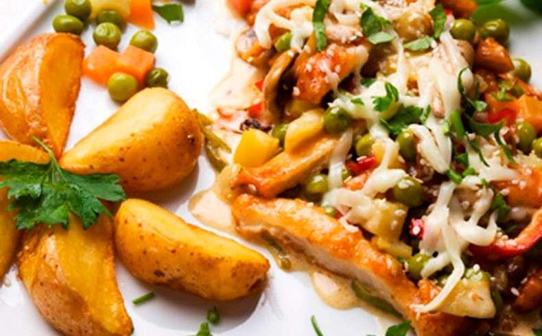 Receita de Filé de frango à napolitano