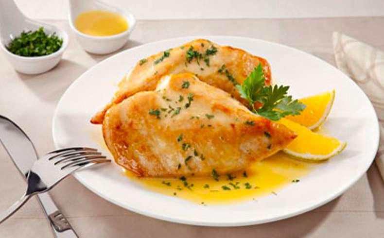 Receita de Filé de frango ao molho cremoso de laranja