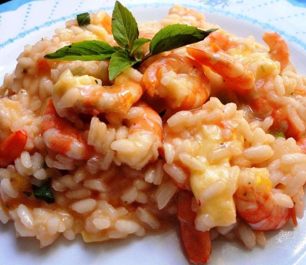 Receita de Risoto De Camarão para Almoço