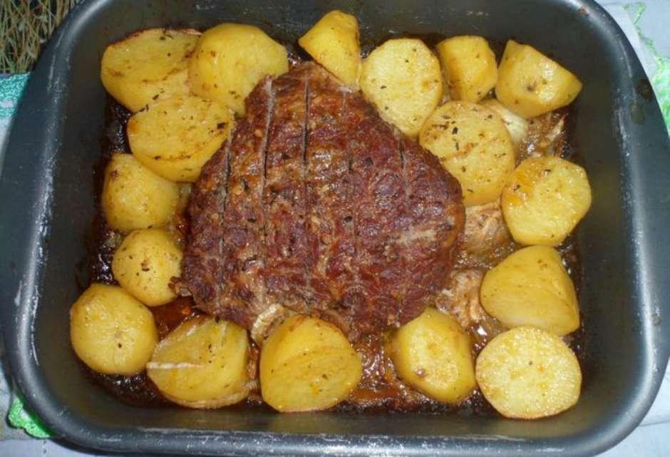 Receita de Cupim assado com batatas