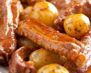 Receita de Costelinha de porco com batatas