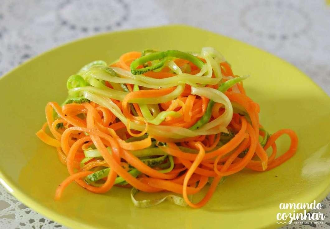 Receita de Espaguete de legumes
