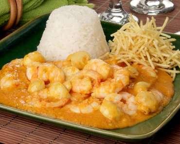 Receita de Estrogonofe de camarão Delicioso