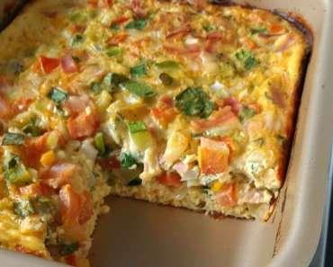 Receita de Omelete de Forno Simples