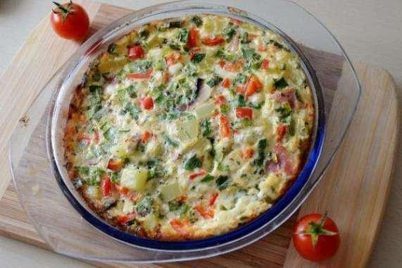 Receita de Omelete de forno light