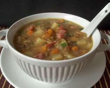 Receita de Sopa de Lentilha com Linguiça Calabresa