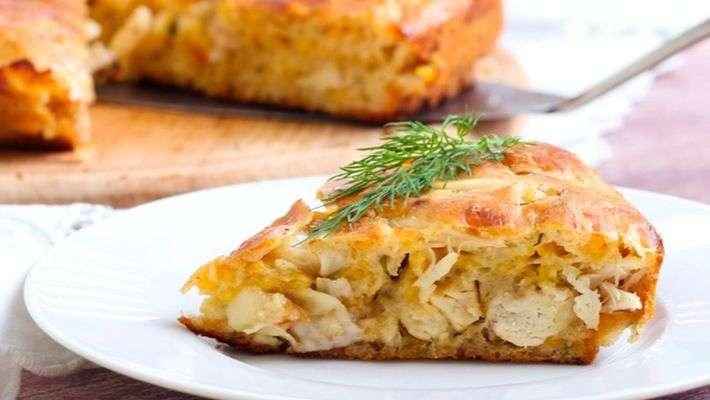 Receita de Torta de frango e palmito com requeijão