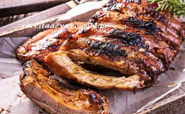 Receita de costelinha de porco assada no forno