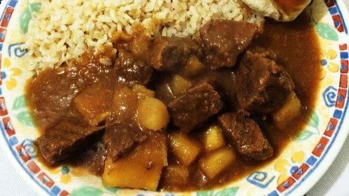 Receita de Carne de panela com mandioca