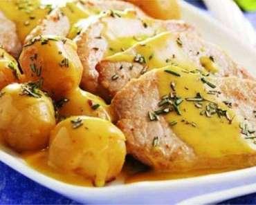 Receita de Lombinho com batatas coradas