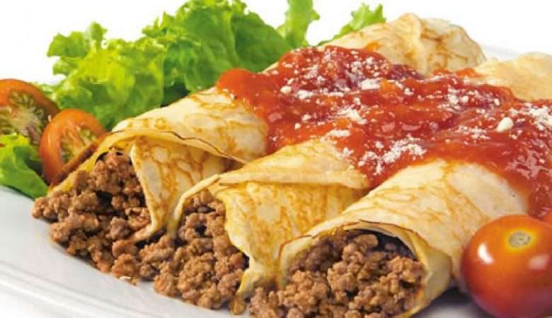 Receita de Panquecas de Claras com carne moída
