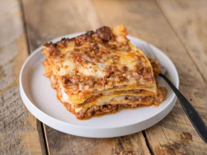 Receita de Lasanha a bolonhesa com queijo especial