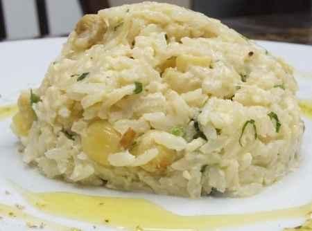 Receita de Arroz à Piamontese com cebola Picada