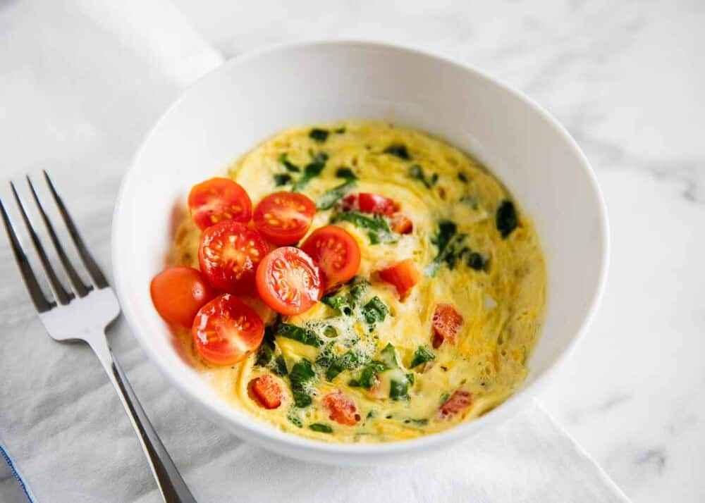 Receita de Omelete de microondas Fácil