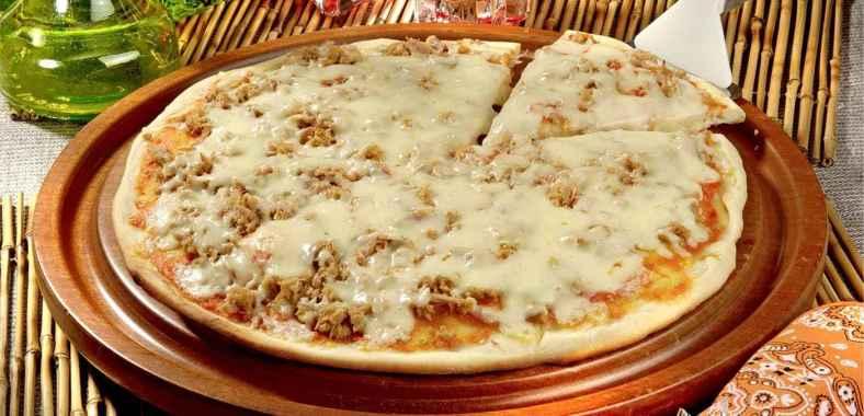 Receita de Pizza de Frigideira de Atum