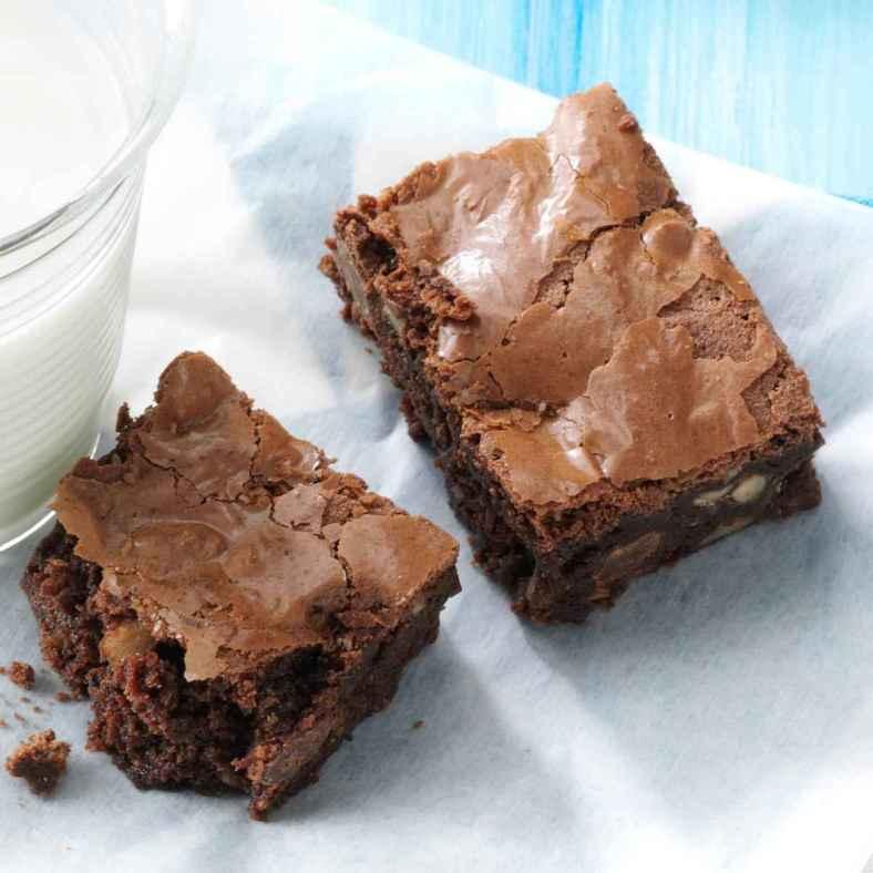 Receita de Brownie clássico e simples