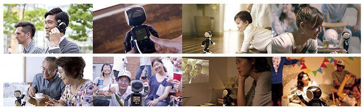 RoBoHoN es teléfono, asistente, reconocimiento facial y de voz, proyector, cámara de fotografía y vídeo... y además anda y se sienta.