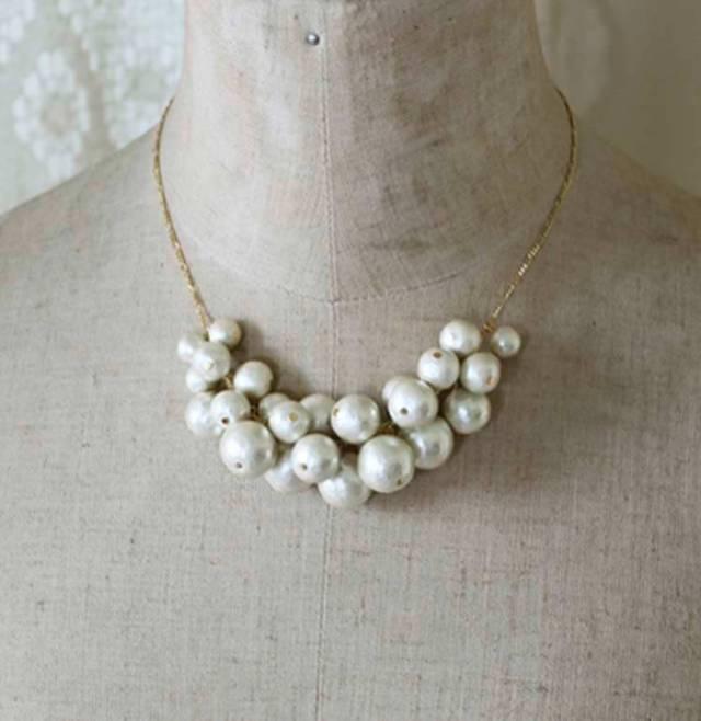 Collar de perlas de algodón©citron-shop