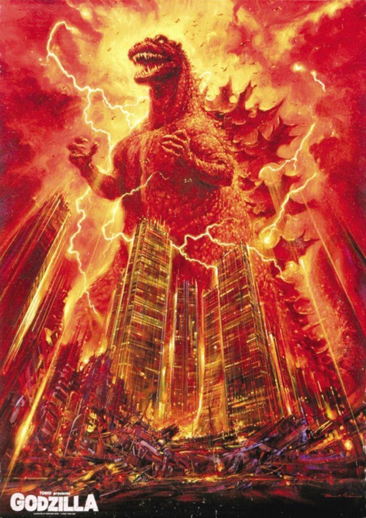 Un cartel de« Godzilla».