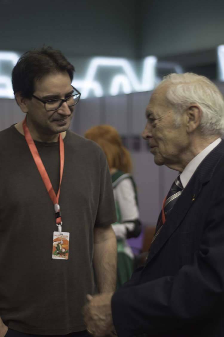 El señor Ángel Ferrer y David Almazán