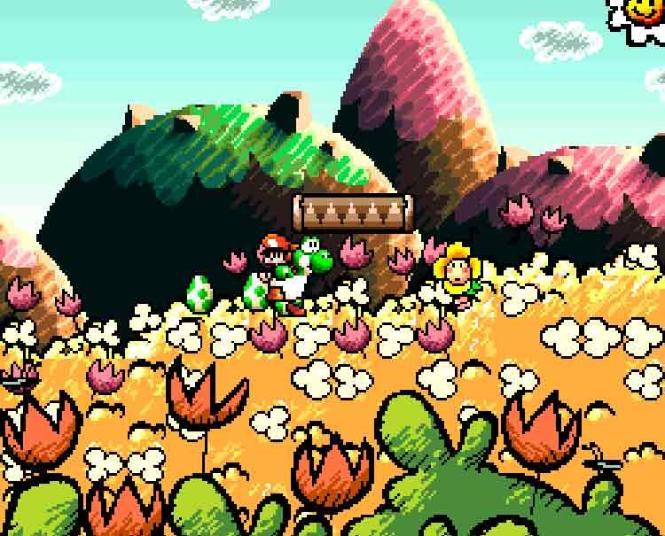 Yoshi y Bebé Mario en Yoshi's Island (Super Nintendo, 1995)
