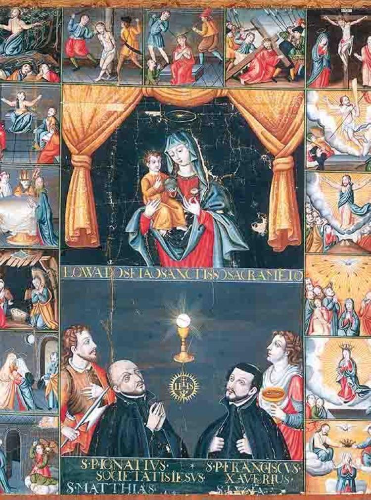 Imagen II. Anónimo japonés, Los Quince Misterios del Rosario, 1623. Kyoto Daigaku Sogo Hakubutsukan-Kyoto University Museum.