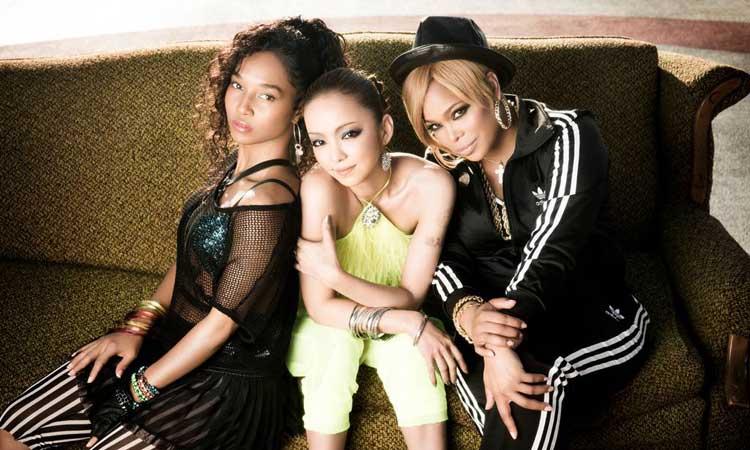 Namie Amuro con las integrantes de TLC - colaboración musical japón occidente