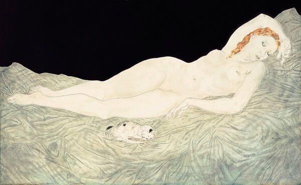 Léonard Foujita - Mujer durmiente