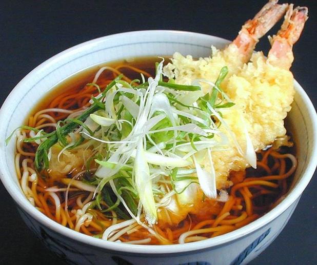 En la noche del 31 de diciembre se come soba. Washoku