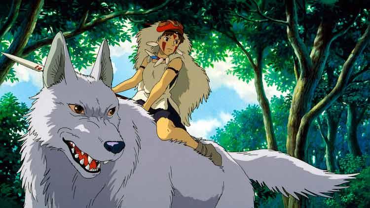 La Princesa Mononoke, de Hayao Miyazaki; una película de marcados guiños al mundo de los ainu.