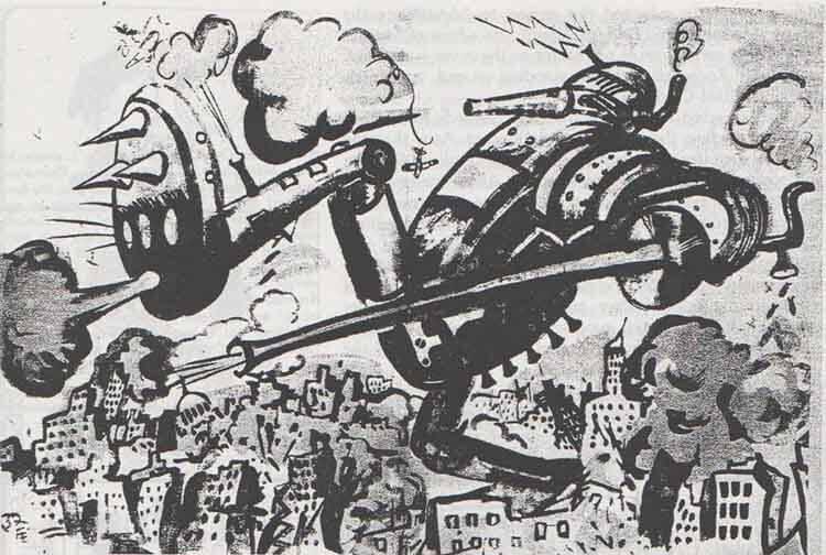"""""""El Guerrero de la Ciencia aparece en Nueva York"""" o el desquite de Japón a través del manga."""