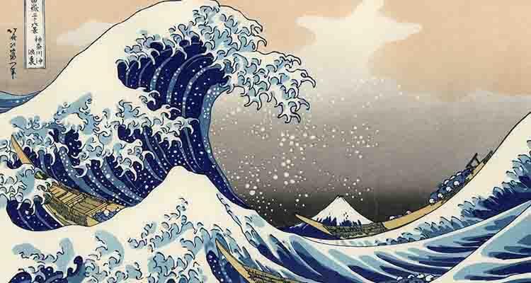 La gran ola de kanagawa Hokusai