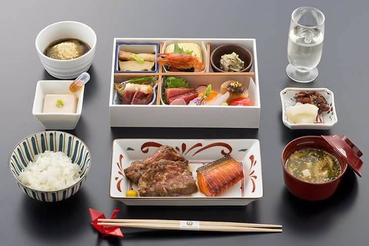 Menú Bussines Japan airlines