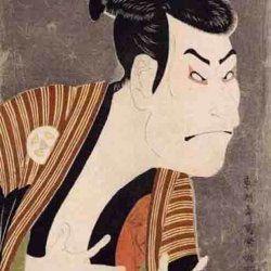 Uno de las obras sobre actores de kabuki más famosas de Utamaro