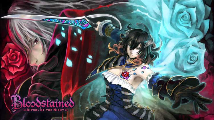Arte promocional de Yuji Natsume, para Bloodstained: Ritual of the Night.