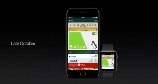Apple Pay con la tecnología FeliCa