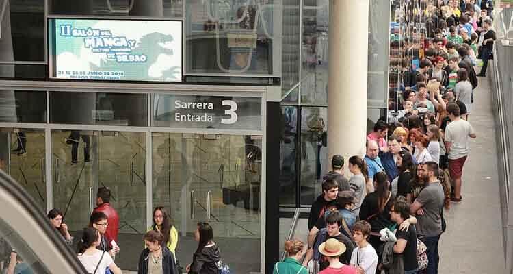 Entrada de la II edición del Salón del Manga de Bilbao.