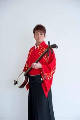El intérprete de tsugaru shamisen, Ken'ichi Yoshida