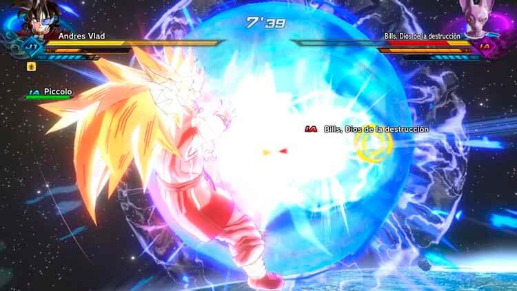 Mi Patrullero del Tiempo, un saiyano, transformado en Super Saiyan de nivel 3, enfrentándose junto a Piccolo a Beerus (o Bills), el Dios de la Destrucción, en una misión secundaria.