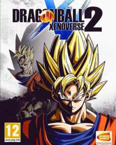 Carátula oficial de la versión internacional del videojuego Dragon Ball: Xenoverse 2